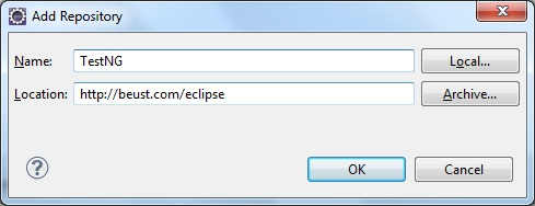 Install TestNG in Eclipse