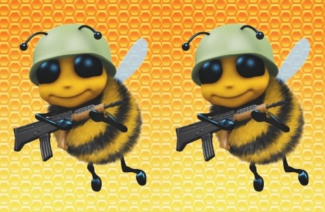 Bees with Machine Guns logo