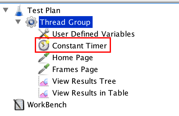 Constant Timer at Thread Group level